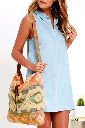 Palm Desert Taupe and Black Southwest Print Tote at Lulus.com!