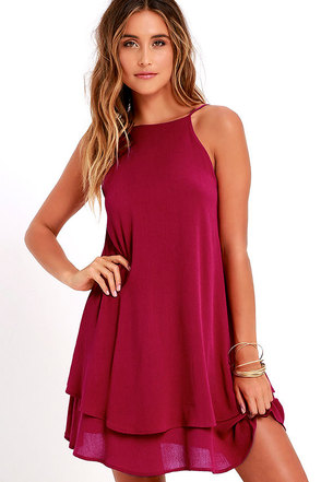 Sights and Sounds Berry Pink Swing Dress at Lulus.com!