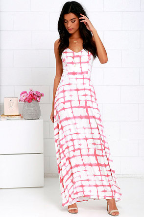 BB Dakota Finnley Ivory and Pink Print Maxi Dress at Lulus.com!