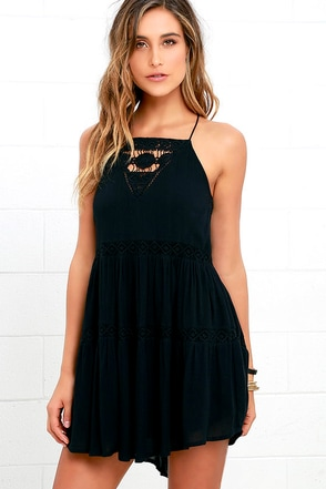 Amuse Society Linnea Brown Lace Dress at Lulus.com!