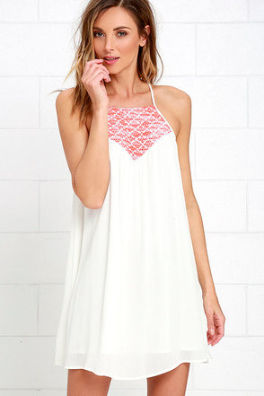 Jack by BB Dakota Emberlynn Ivory Embroidered Dress at Lulus.com!