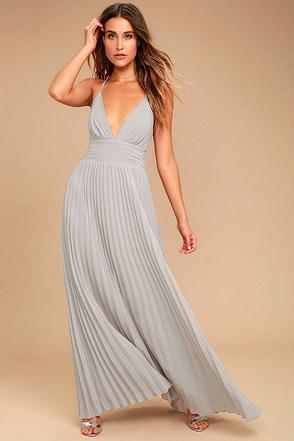 Depths of My Love Grey Maxi Dress 1