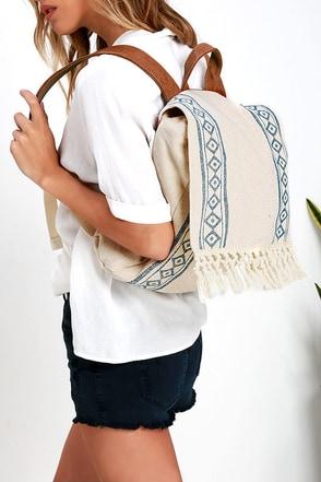 Billabong Moonglow Beige Print Backpack at Lulus.com!