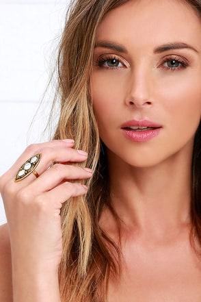 Viking Princess Gold and Ivory Ring at Lulus.com!