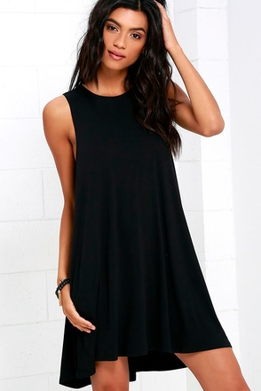 RVCA Sucker Punch 2 Black Swing Dress at Lulus.com!