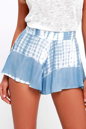 Knock on Wood Black Tie-Dye Shorts at Lulus.com!