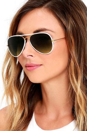 Clear View White Aviator Sunglasses at Lulus.com!