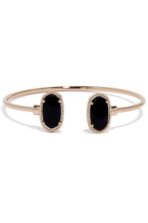 Find a Way Gold and Black Bracelet at Lulus.com!