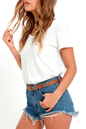 Blooming Thicket Tan Belt at Lulus.com!