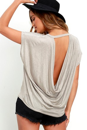 Essential Bliss Taupe Backless Top at Lulus.com!