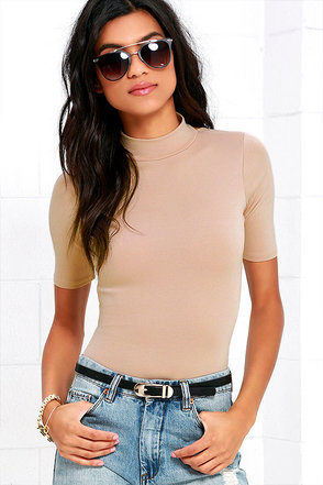 Whenever Wear-ever Beige Bodysuit at Lulus.com!