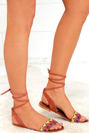 Steve Madden Shaney Bright Multi Leather Beaded Sandals at Lulus.com!