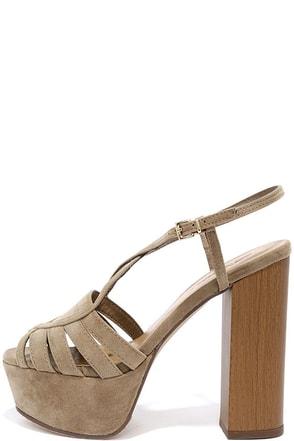 Simmer Love Beige Suede Platform Heels at Lulus.com!
