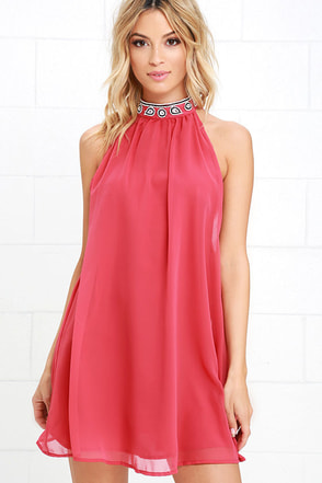 Glamorous Dancing with Fate Rose Pink Beaded Dress at Lulus.com!