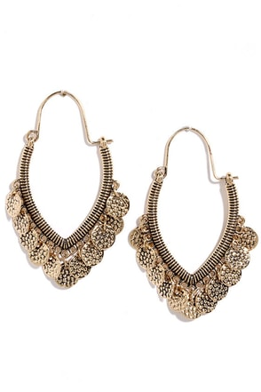 Sands of Sinai Gold Earrings at Lulus.com!