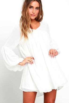 Gentle Breeze Ivory Babydoll Dress at Lulus.com!