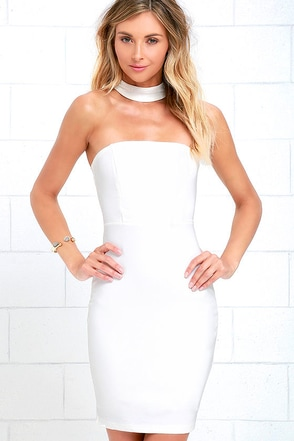 Unexpected Twist Black Bodycon Dress at Lulus.com!