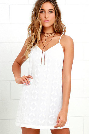 Obey Kellyn Ivory Shift Dress at Lulus.com!