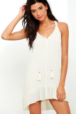 Catch My Flow Cream Print Dress at Lulus.com!