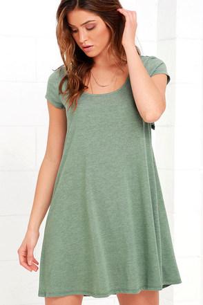 Others Follow Make a Splash Sage Green Lace Swing Dress at Lulus.com!