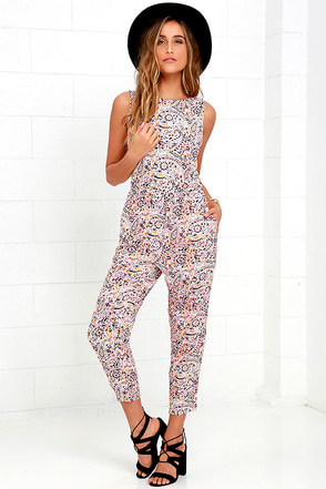Billabong Dayz of Summer Multi Print Backless Jumpsuit at Lulus.com!
