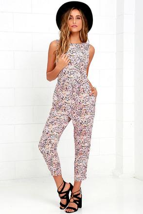 Billabong Dayz of Summer Multi Print Backless Jumpsuit at Lulus.com!