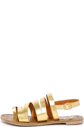 Plus and Midas Gold Flat Sandals at Lulus.com!