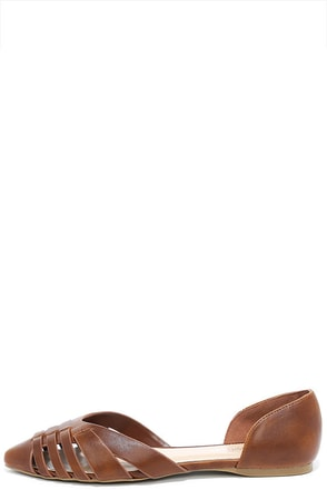 Business Minded Tan Pointed Flats at Lulus.com!