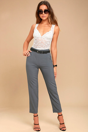 Kick It Black Trouser Pants at Lulus.com!
