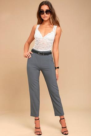 Kick It Grey Trouser Pants 1