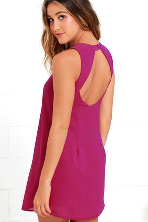 Harmonious Magenta Shift Dress at Lulus.com!