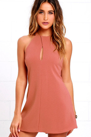 Could It Be Magic Rusty Rose Dress at Lulus.com!