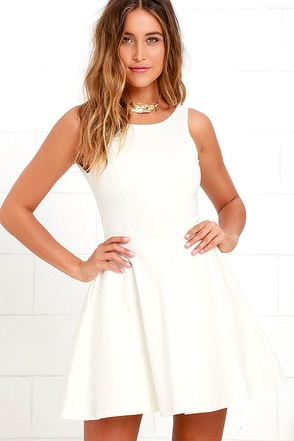 Wanderlust Ivory Skater Dress at Lulus.com!