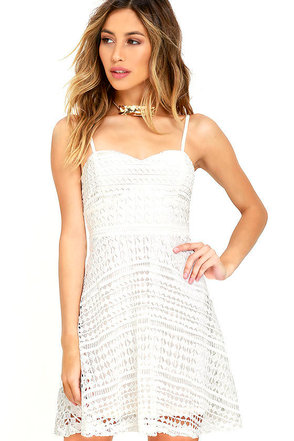 Hand in Mine Ivory Lace Dress at Lulus.com!