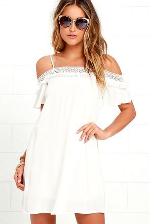 Make it Hot Ivory Lace Swing Dress at Lulus.com!