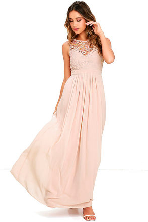 So Far Gown Grey Lace Maxi Dress at Lulus.com!