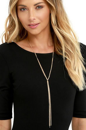 Believe It or Knot Gold Necklace at Lulus.com!