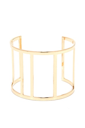 Butterfly Wings Gold Cuff Bracelet at Lulus.com!