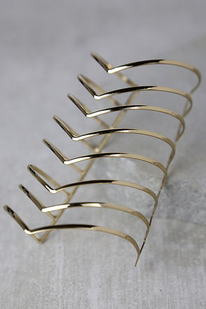 Forces at Work Gold Cuff Bracelet at Lulus.com!