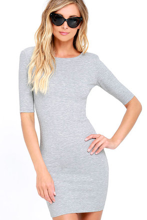 Point of Inflection Black Bodycon Dress at Lulus.com!