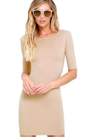 Point of Inflection Ivory Bodycon Dress at Lulus.com!