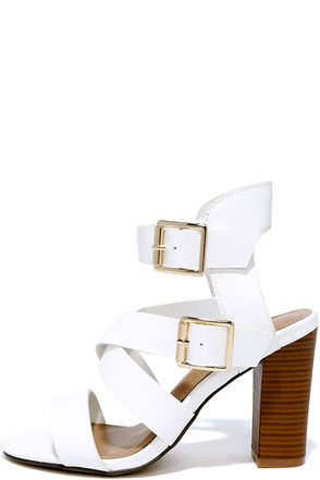 Ways and Scenes White Heeled Sandals at Lulus.com!