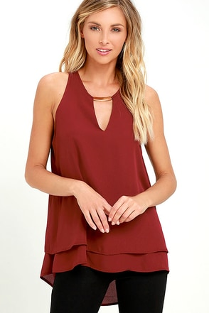 You're in Luxe Burgundy Top at Lulus.com!