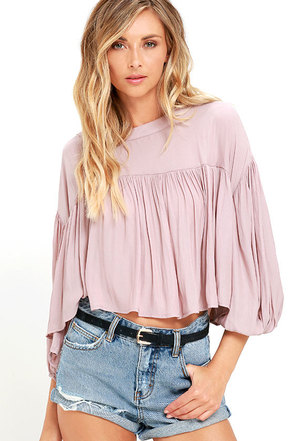 Prevailing Winds Mauve Top at Lulus.com!