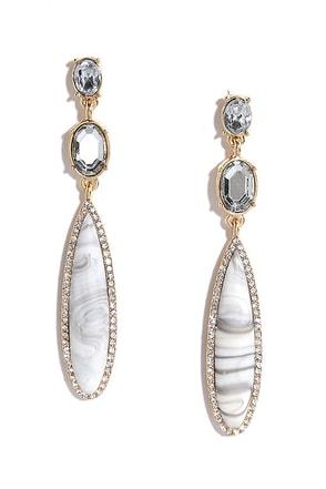 Star Quality Grey Rhinestone Earrings at Lulus.com!