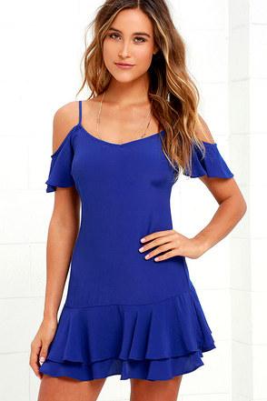 Ruffled Up Royal Blue Mini Dress at Lulus.com!