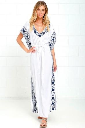 Mila Soul Ivory Maxi Kaftan Dress at Lulus.com!