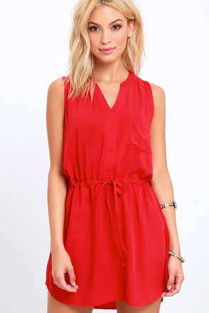 Ocean View Avenue Red Sleeveless Dress at Lulus.com!