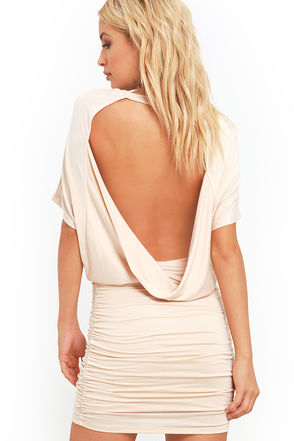 Chic Composure Heather Grey Backless Dress at Lulus.com!
