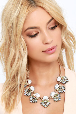Current's Course Ivory Rhinestone Statement Necklace at Lulus.com!